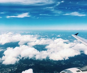 clouds, plane, and tumblr image