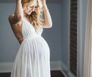 pregnancy, dress, and pregnant image