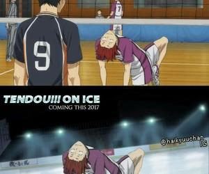 haikyuu, yuri on ice, and funny image