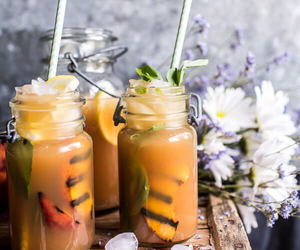 cocktail and food image