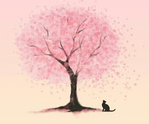 tree and cat. image