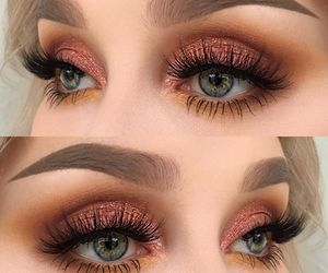 makeup, eyebrows, and make-up image