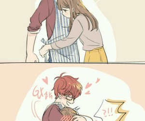 mystic messenger, 707, and anime image