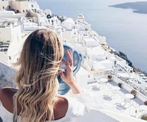 travel, girl, and Greece image