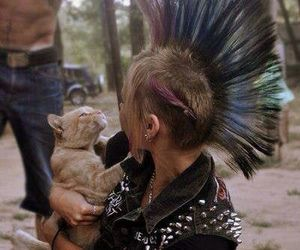 punk and cat image