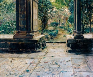 painting and santiago rusiñol image