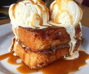 breakfast, delicious, and french toast image
