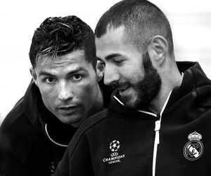 black and white, cristiano ronaldo, and real madrid image