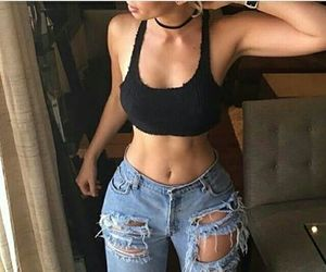 abs, body, and jeans image