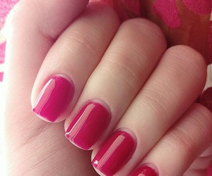 red, spring, and rednails image