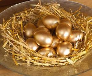 craft, easter eggs, and gold image