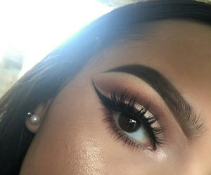 eyes, inspired, and makeup image