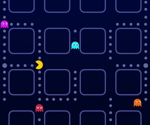 iphone, wallpaper, and pacman image