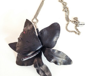 earrings, giveaway, and leather image