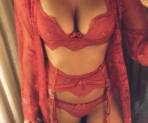 lingerie, body, and red image