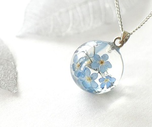 jewelry, flowers, and blue image