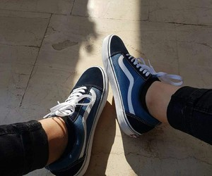 blue, navy, and vans image