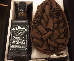 chocolate, jack daniels, and spoon image