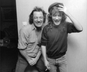 ac dc, angus young, and brian johnson image