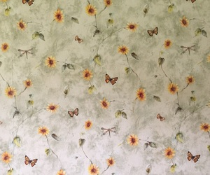 butterflies, wallpaper, and flowers image