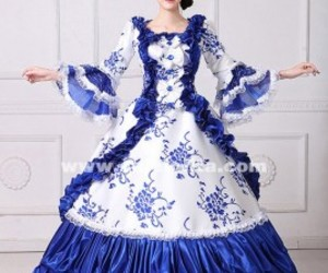 marie antoinette dress, theatrical clothing, and southern belle dress image