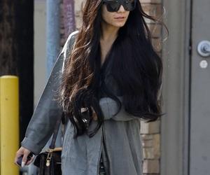 fashion, long hair, and straight hair image