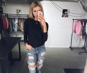clothes, color, and hair image