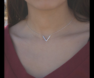 christmas gift, triangle necklace, and charm necklaces image