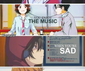 anime, music, and quotes image