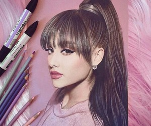ariana grande, art, and drawing image