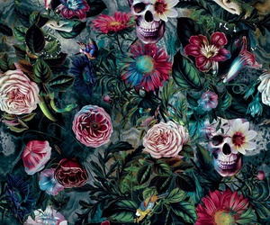 background, dark, and floral image