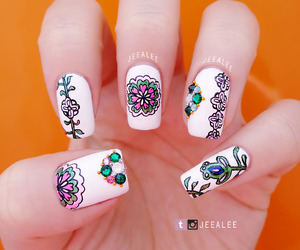 floral, garden, and nail art image
