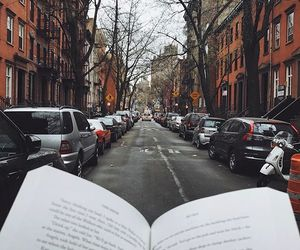 avenue, book, and cars image