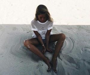 beach, hair, and Hot image