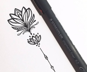 flowers and draw image