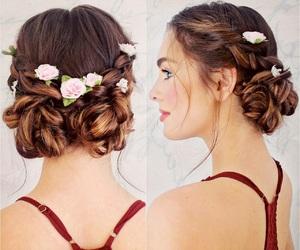 auburn, beauty, and braids image