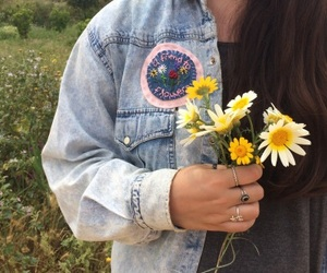 flowers, girl, and alternative image