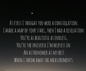 constellations, lyric, and find you image