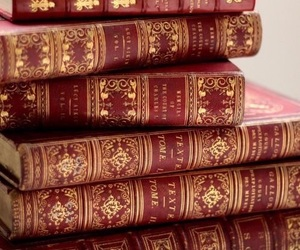 book, red, and gryffindor image