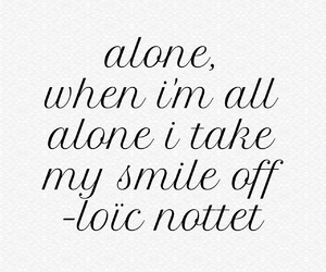 alone, lyric, and mask image