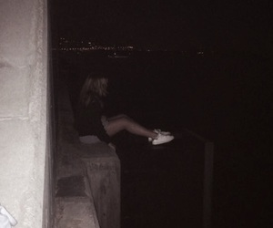 alone, blond, and blurry image