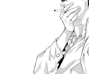 manga, black and white, and boy image