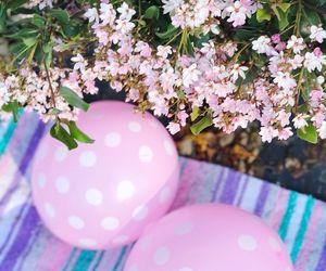 balloon, balloons, and blossom image