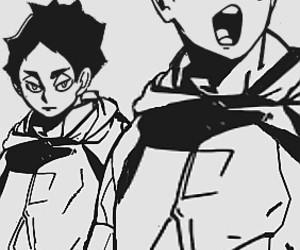 anime, b&w, and black & white image