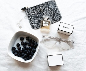 chanel, glasses, and fruit image