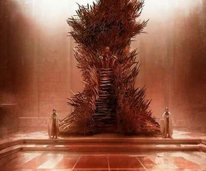 game of thrones, iron throne, and got image