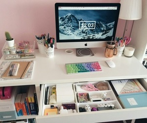 school, study, and desk image