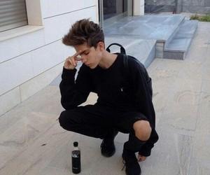 boy, tumblr, and black image