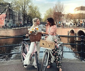 amour, amsterdam, and bicyclette image