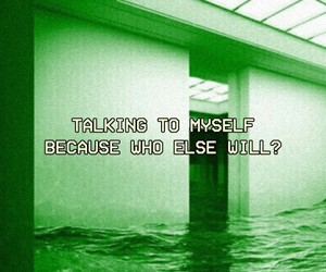 aesthetic, alone, and drown image